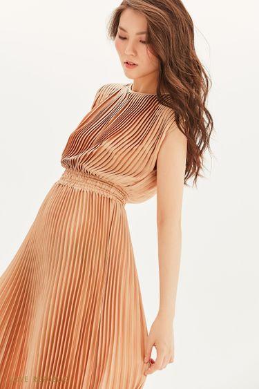 Плиссированное платье миди 1357011528