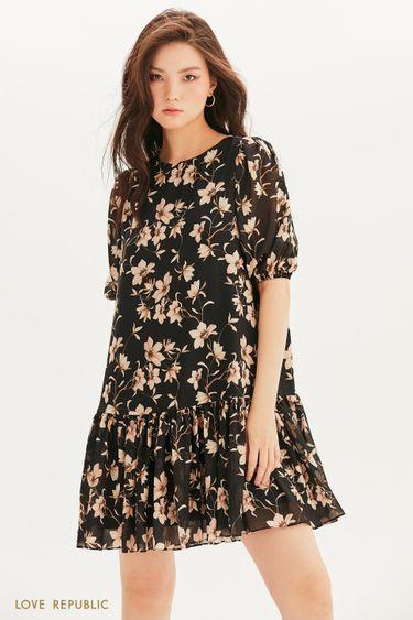Шифоновое платье с цветочным принтом 1357015518