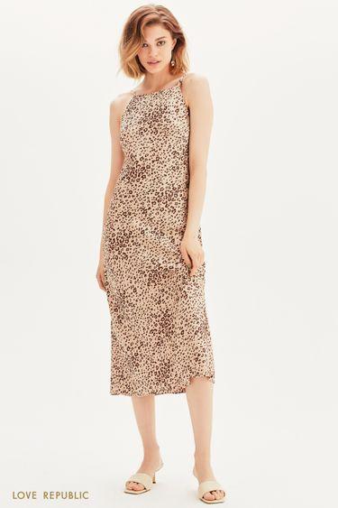 Атласное платье макси 1357018519