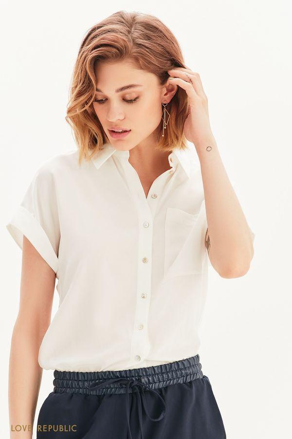 Базовая рубашка с коротким рукавом 1357003316-50