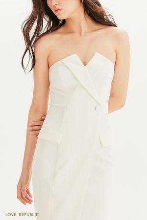 Платье-футляр на запах