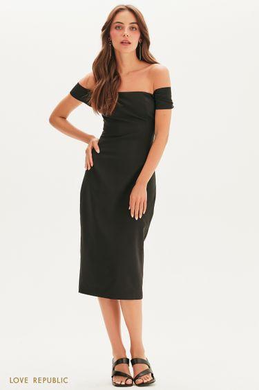 Платье-футляр с открытыми плечами 1357215520
