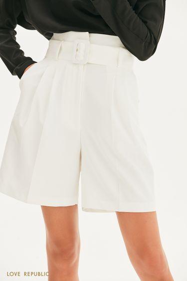 Удлиненные бермуды из костюмной ткани 1357215727
