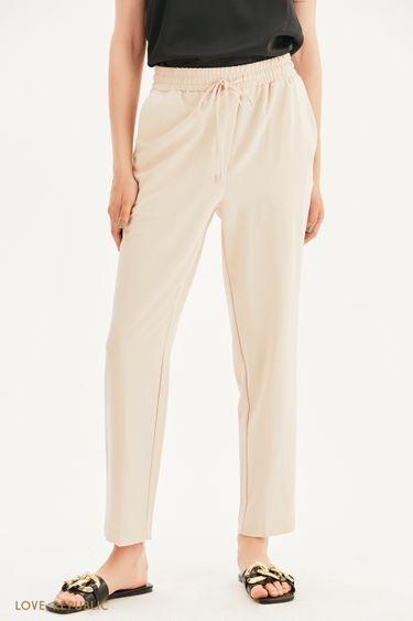 Прямые брюки на кулиске 1357230737