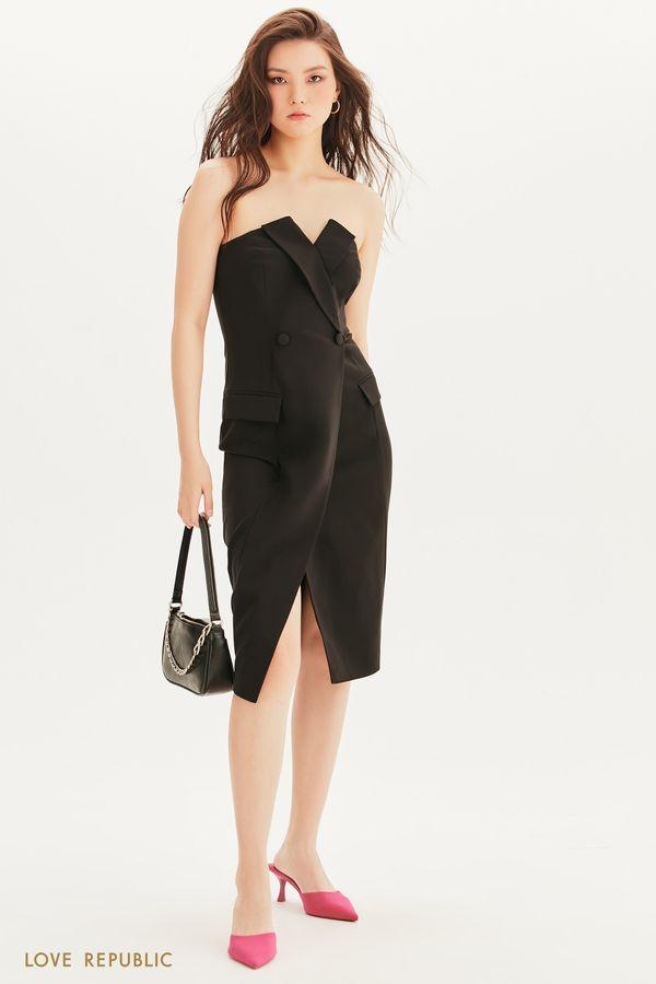 Платье-футляр на запах 1357215531-50