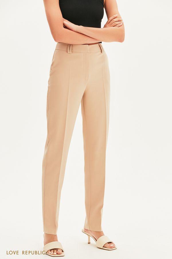 Зауженные брюки со стрелками 1357215712-62