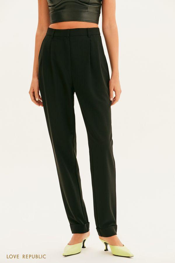 Классические брюки с защипами 1357218722-47
