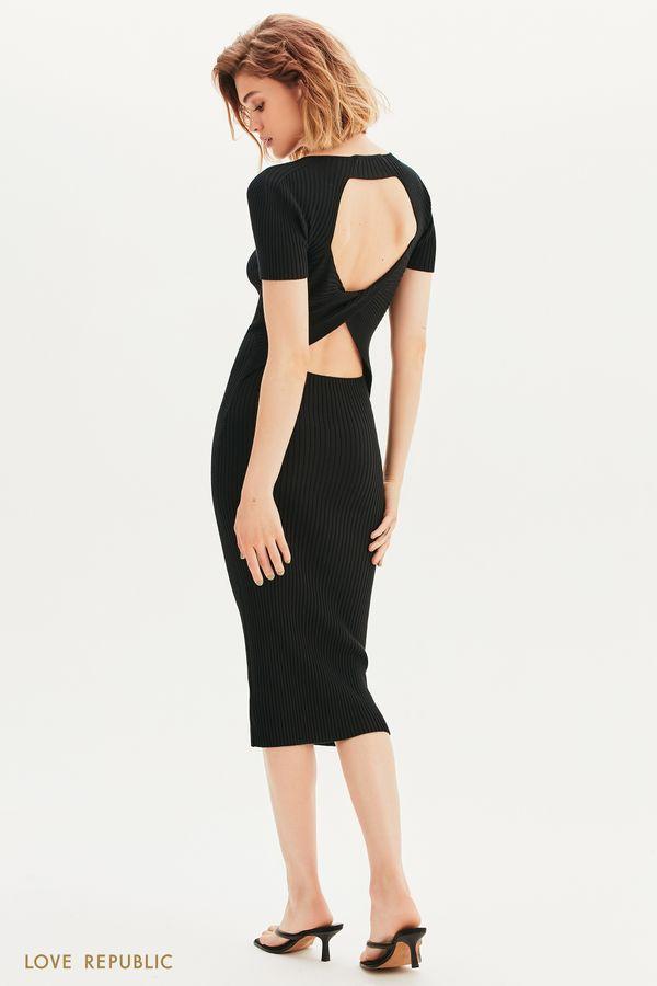Платье-лапша с открытой спиной 1357301512-61