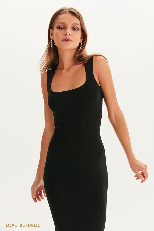 Платье из бандажного трикотажа 1357305527-50
