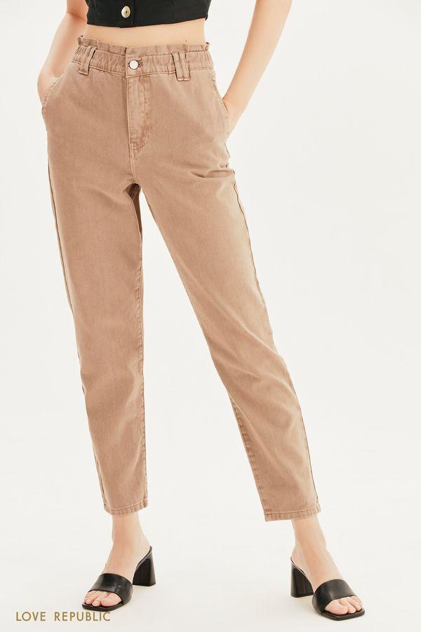 Прямые джинсы с эластичным поясом 1357423720-63