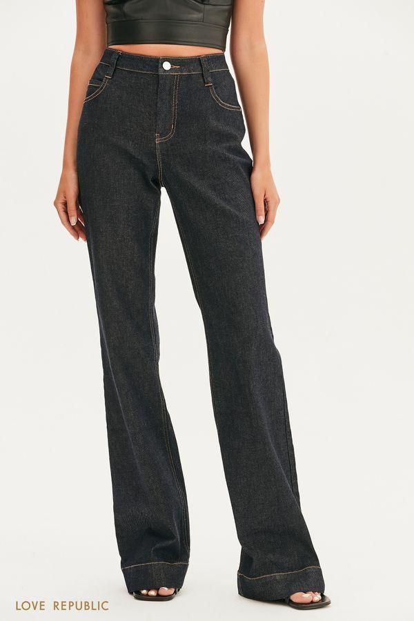Базовые джинсы клеш 1357424726-105