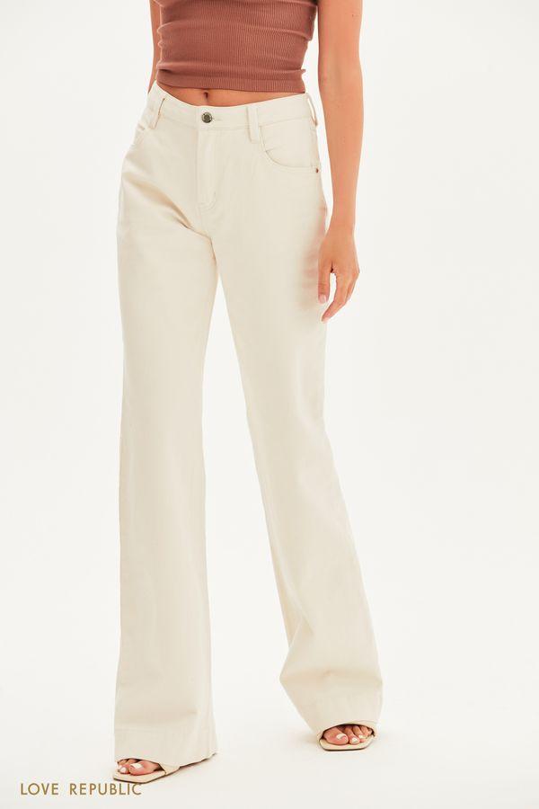 Базовые джинсы клёш 1357425726-61