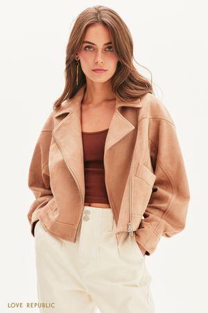 Куртка-косуха объемного кроя