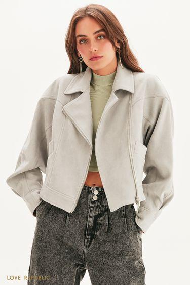 Куртка-косуха объемного кроя 1357505103