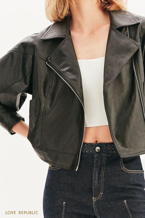 Куртка-косуха объемного кроя 1357504103-50