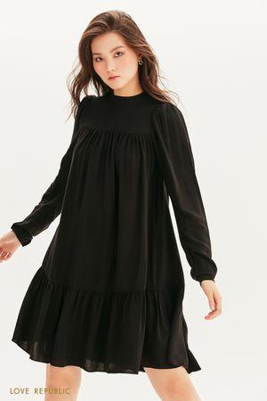 Ярусное платье мини