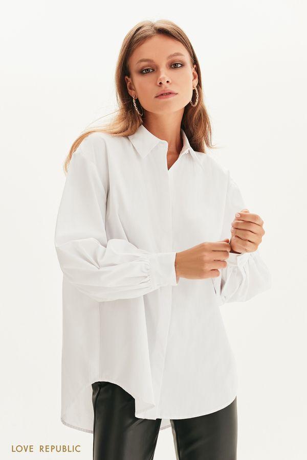 Рубашка асимметричного кроя 1358015330-1