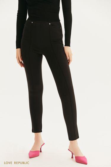 Трикотажные брюки с заклепками 1358108706