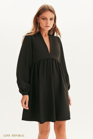 Платье мини с завышенной талией
