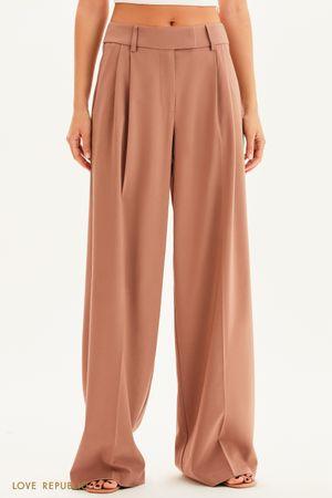 Костюмные брюки-палаццо