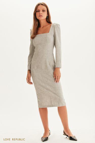 Платье-футляр с графичным вырезом 1358210507