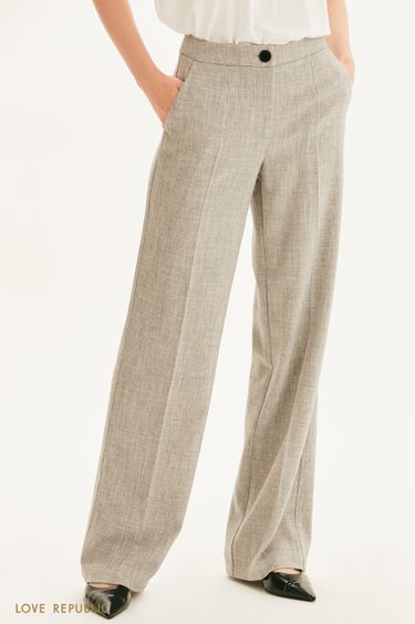 Широкие брюки из костюмной ткани 1358210712