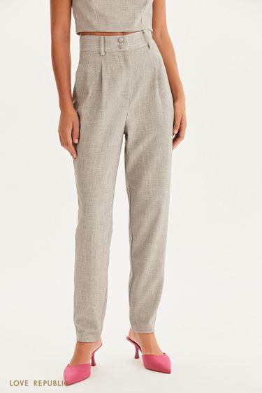 Класические брюки с защипами 1358210720