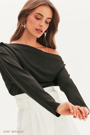 Блузка с кроем на одно плечо 1358215335