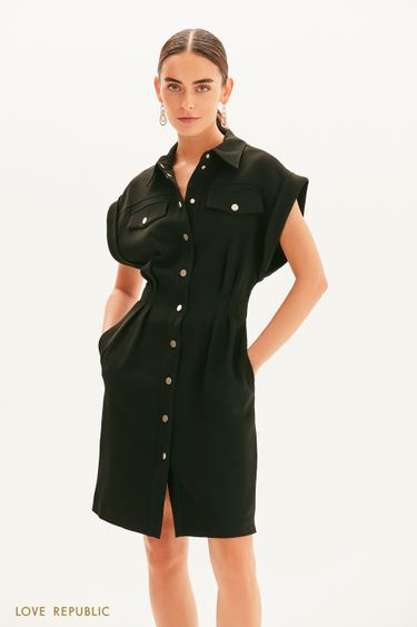 Приталенное платье-рубашка 1358217522