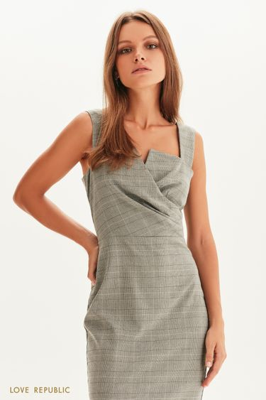Платье-футляр с лифом на запах 1358231528