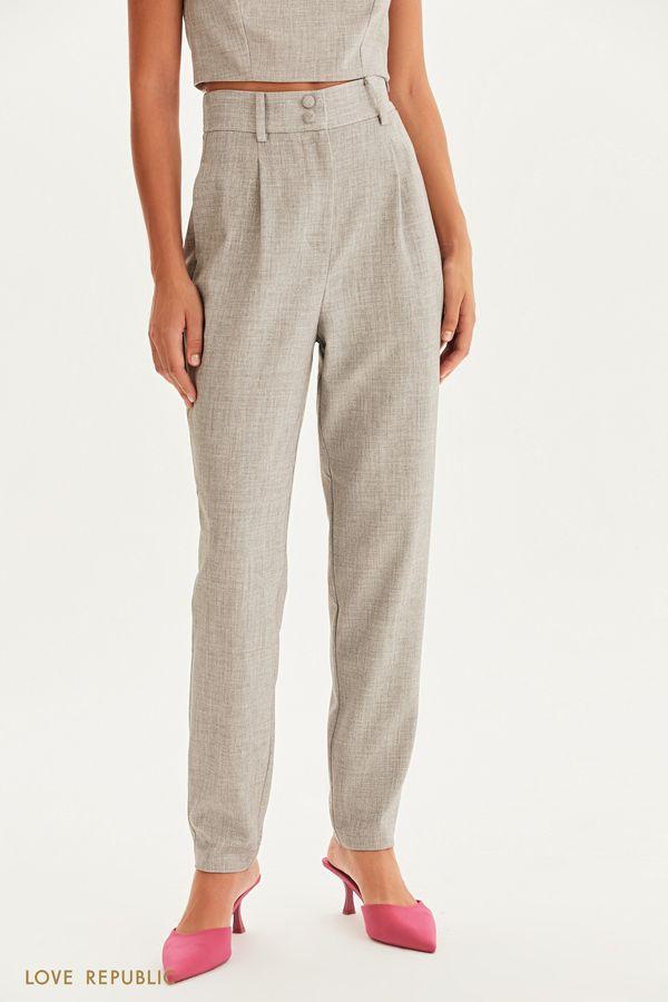 Классические брюки с защипами 1358210720-38