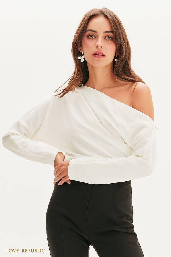 Блузка с кроем на одно плечо 1358215335-60