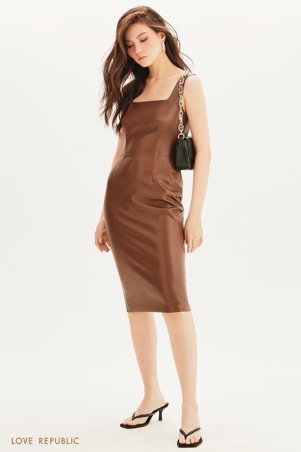 Платье-футляр из экокожи 1358234510-22