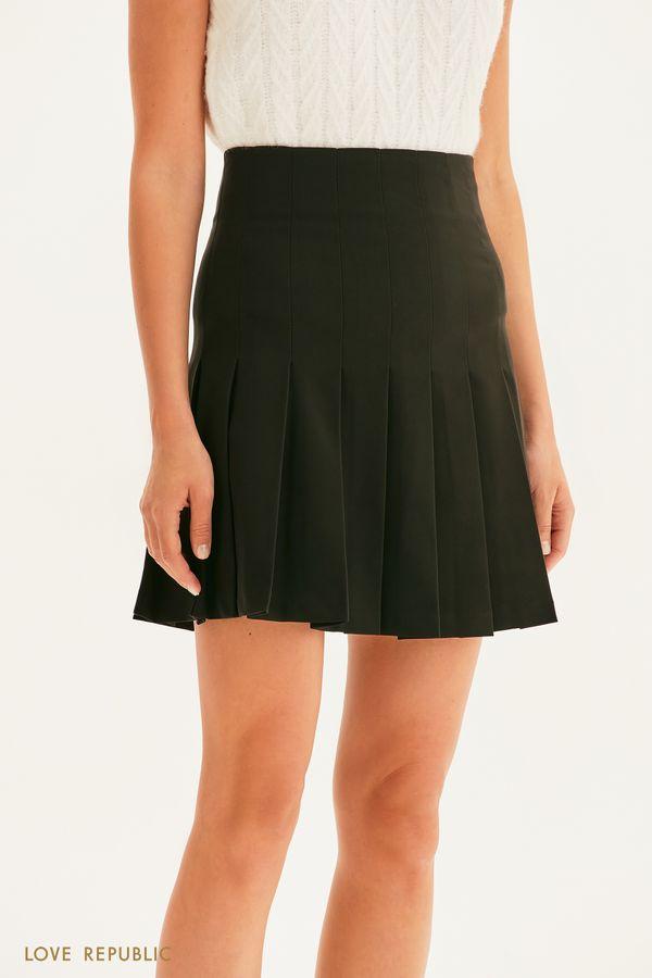 Плиссированная юбка мини 1358246216-50