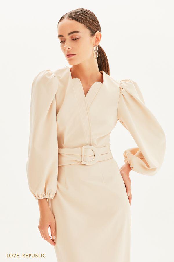 Платье-футляр с поясом 1358249529-50