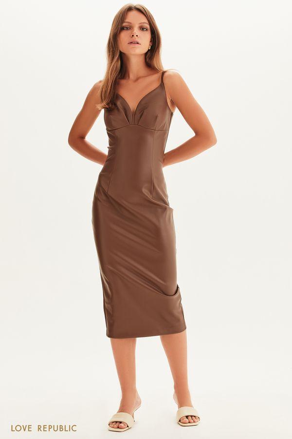 Платье из экокожи 1358251530-22
