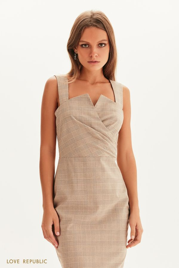 Платье-футляр с лифом на запах 1358535528-65
