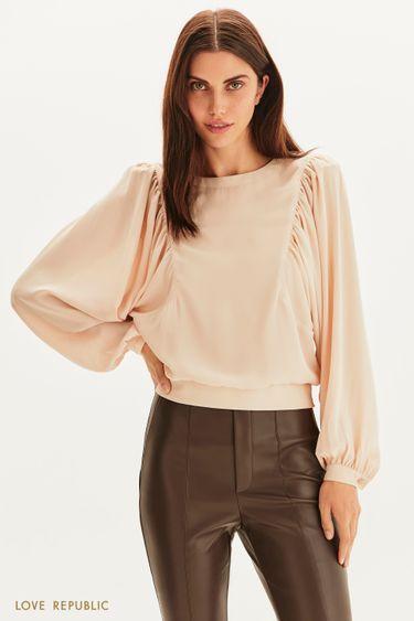 Блузка с широкими рукавами 1359012314