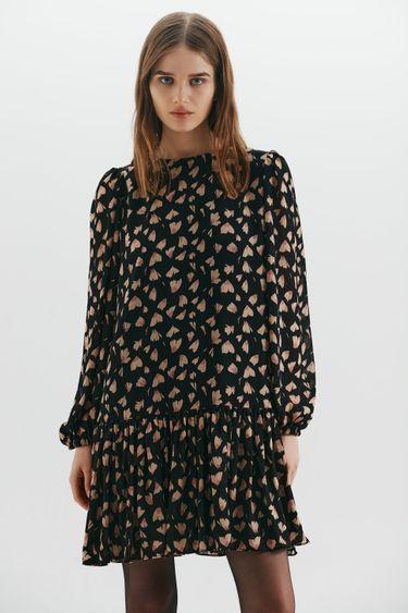 Шифоновое платье с принтом 1359019536