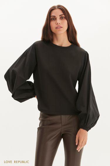 Блузка с объемными рукавами 1359111318