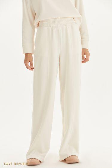 Трикотажные брюки со стрелками 1359111719