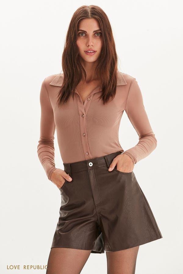 Полупрозрачная блузка из сетки 1359113322-22