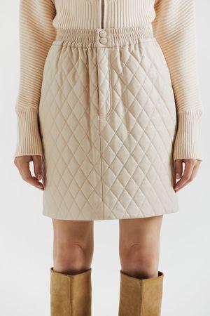 Стеганая юбка из экокожи