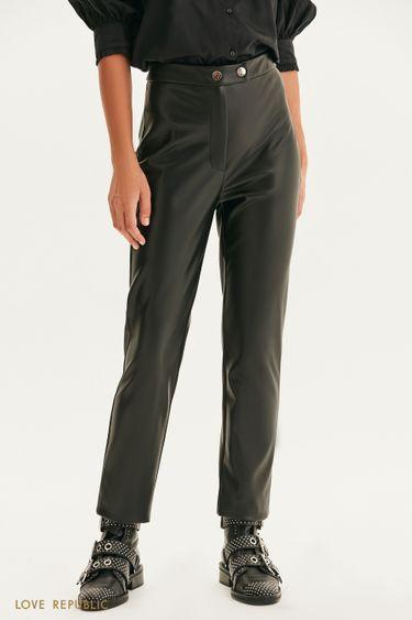 Прямые брюки из экокожи 1359210724