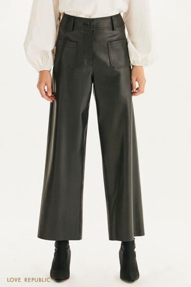 Широкие брюки из экокожи 1359219727