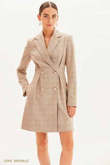 Двубортное платье-пиджак 1359222522