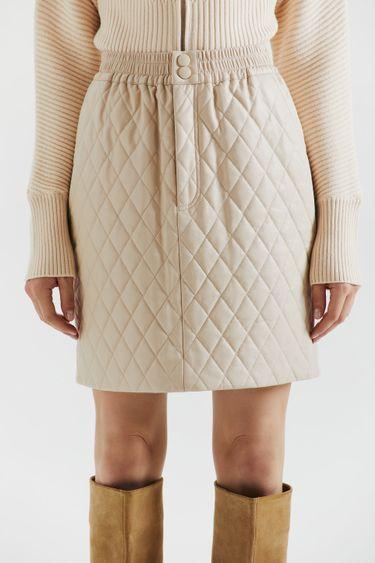 Стеганая юбка из экокожи 1359246213