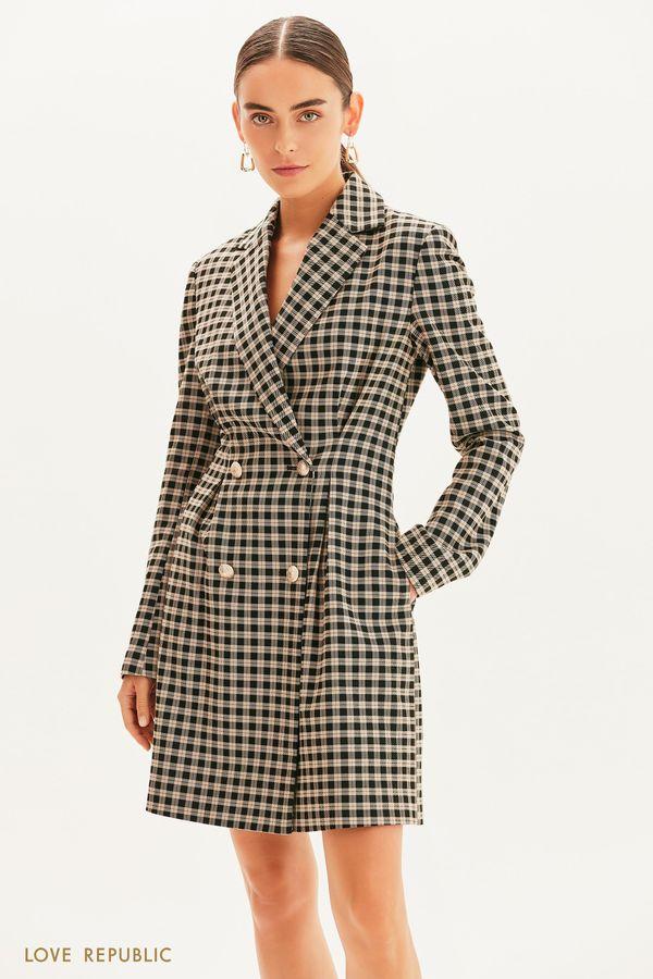 Двубортное платье-пиджак 1359221522-55