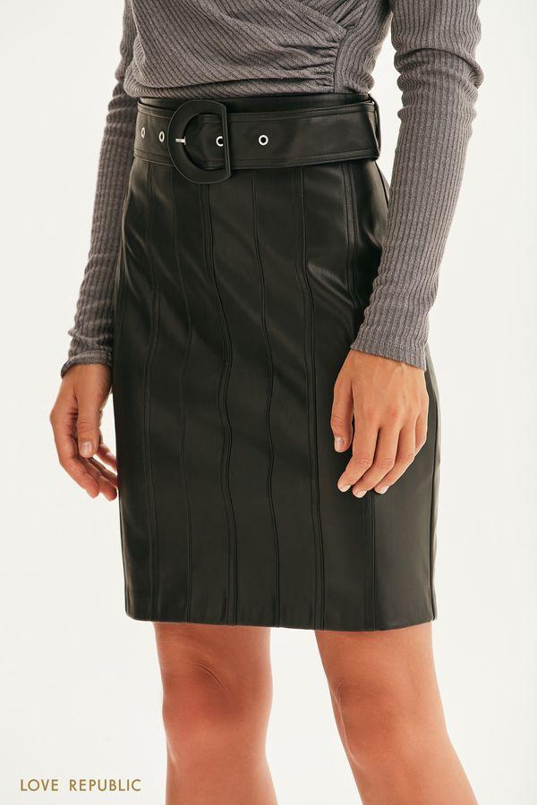 Мини юбка из экокожи 1359227209-50