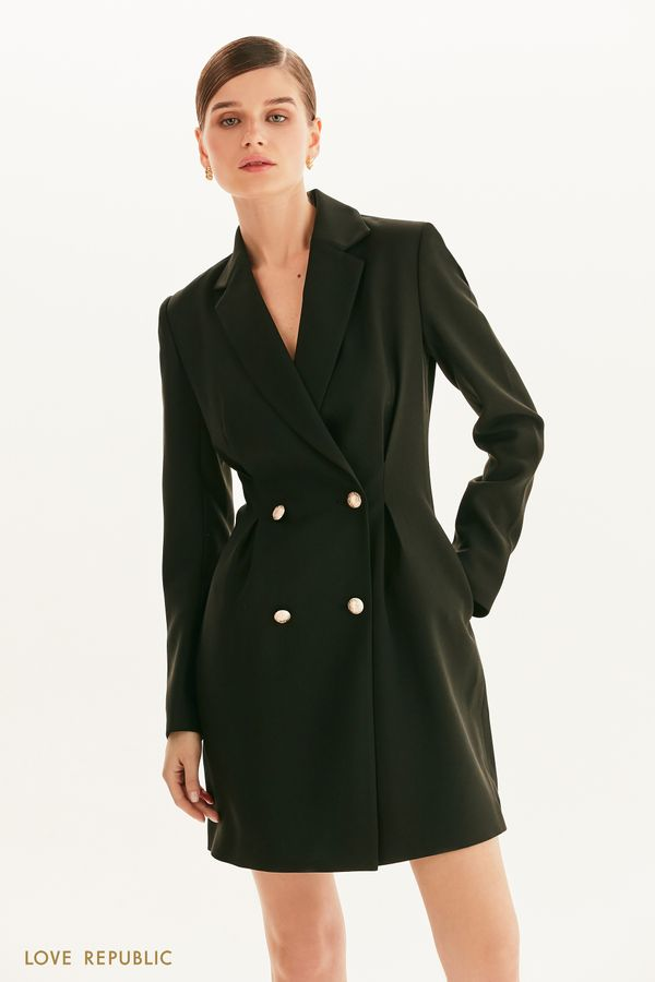 Двубортное платье-пиджак 1359245522-50